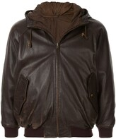 Issey Miyake Pre Owned 1980's Sport Line drawstring leather jacket