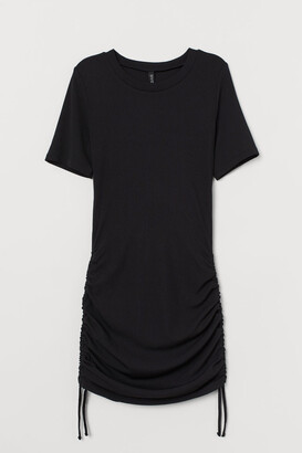 H&M Ribbed Jersey Dress - Black