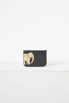 French Connection Elephant Recycled Leather Charity Coin Purse