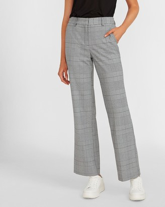 Express High Waisted Plaid Trouser Pant