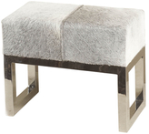 Moro Hide and Stainless Steel Stool
