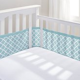 BreathableBaby Mesh Printed Crib Liner, Sea Foam Clover by