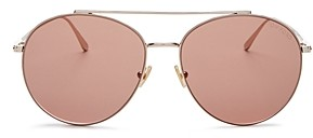 Tom Ford Women's Cleo Brow Bar Aviator Sunglasses, 59mm
