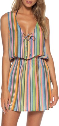 Becca East Village Stripe Cover-Up Dress