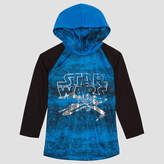 Star Wars Long Sleeve Hooded Neck T-Shirt-Preschool Boys