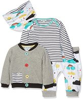 Lilly & Sid Baby-Unisex 4 Pc Badged Bomber Whatever the Weather Clothing Set, NA,0-3 Months