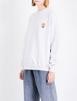 Yeezy Season 5 badge-detail cotton-jersey sweatshirt
