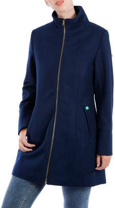 Modern Eternity Maternity Brittany 3-in-1 Semi-Fitted Wool-Blend Coat