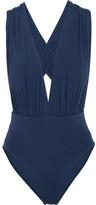 Vix Plunge-front Swimsuit - Navy