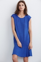 Semaj Linen Knit Cap Sleeve Dress