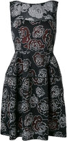 Talbot Runhof floral patterned dress - women - Polyester/Spandex/Elastane - 32