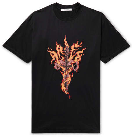 Givenchy Oversized Printed Cotton-Jersey T-Shirt
