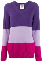 Semi-Couture Semicouture oversized panelled jumper