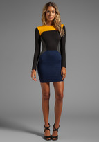 Torn By Ronny Kobo Ivy Color Block Ponti Dress
