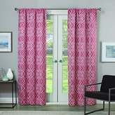 Eclipse Curtains Eclipse Paloma 84-Inch Single Room-Darkening Window Curtain Panel, Coral
