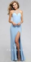 Faviana Rhinestone Halter Prom Dress