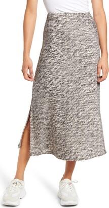 WAYF x BFF Chelsea Side Slit Midi Slip Skirt
