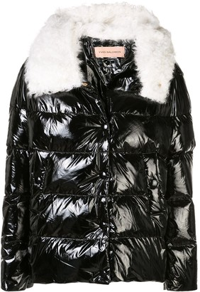Yves Salomon Metallic Padded Jacket