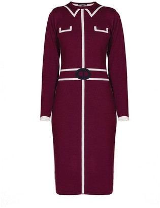 Mulberry Rumour London Claire Knitted Jacquard Dress In