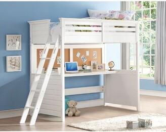 Harriet Bee Klaudia Twin Low Loft Bed with Desk
