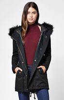 La Hearts Faux Fur Hooded Anorak Jacket