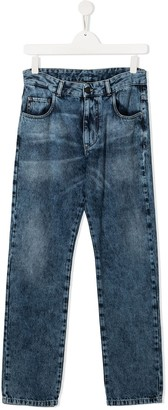 No21 Kids TEEN stonewashed denim jeans