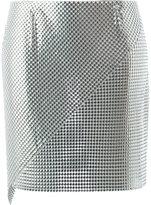 Paco Rabanne panelled mini skirt - women - Aluminium - 36