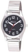 Ravel Ladies Bracelet Easy Read Watch Women's Quartz Watch with White Dial Analogue Display and Silver Stainless Steel Plated Bracelet R0225.03.2