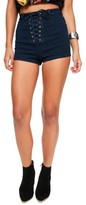 Missguided Women's Vice Lace Up Shorts