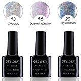 Gellen New Trend HALO Gel Series UV LED Gel Nail Polish , Pack of 3 Colors, 10 ml Each, Set #15