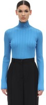 Nina Ricci LOGO VISCOSE KNIT TURTLENECK SWEATER