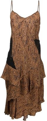Almaz Zebra Print Asymmetric Dress