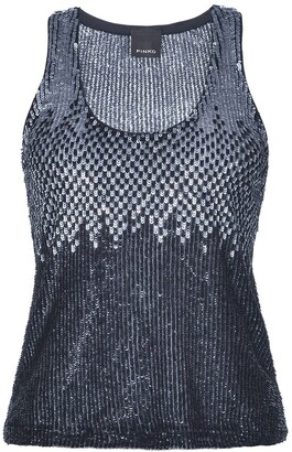 Pinko Sequin Embroidered Tank Top