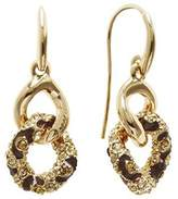 GUESS Women's Earrings Rhodium Plated Cubic Zirconia Round Cut Gold – UBE21569