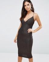 AX Paris Midi Cami Dress In Glitter Fabric
