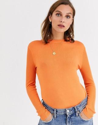 Gianni Feraud crewneck knit sweater in orange