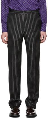 Cobra S.C. Black Metallic Pinstripe Classic Trousers