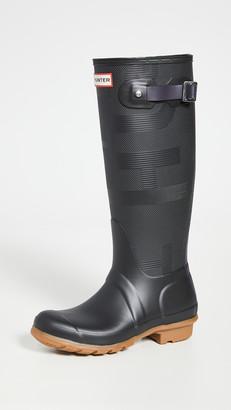Hunter Womens Original Tall Exploded Logo Texture Boots