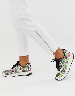 Asos DESIGN Dalston retro sneakers in graffiti print