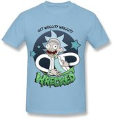 SkyBlue Enlove Rick And Morty Casual T Shirt For Men Size M