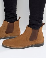 Red Tape Chelsea Boots In Tan Suede