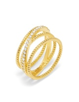 BaubleBar Carly Crossover Ring
