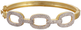 Forever Creations Usa Inc. Forever Creations Gold Over Silver 1.50 Ct. Tw. Diamond Bangle