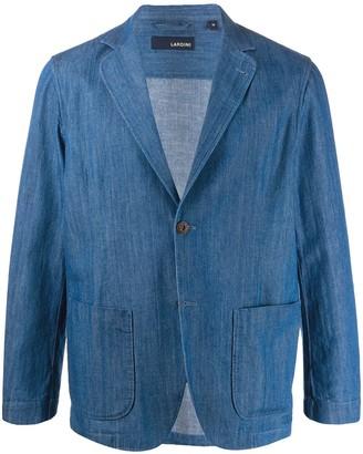 Lardini tailored denim blazer