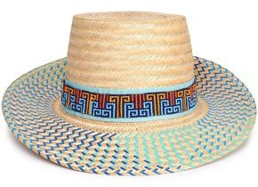Yosuzi Bidika Bead-embellished Straw Sunhat