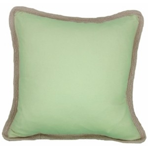 """Manor Luxe Classic Jute Solid Color Pillow Collection, 20"""" x 20"""""""