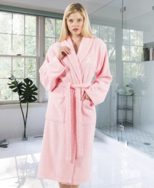 Linum Home 100% Turkish Cotton Personalized Terry Bath Robe - Pink Bedding