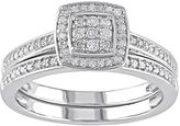 Diamond Halo Engagement Ring Set in Sterling Silver (1/4 ct. T.W.)