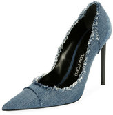 Tom Ford Fringed Denim 105mm Pump