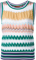 Missoni zigzag knit tank - women - Cotton/Viscose - 42
